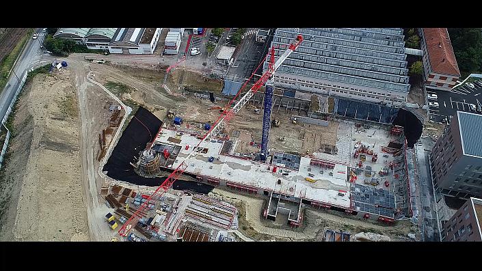 Timelapse - Construction - Parking souterrain quartier d'affaires Interrives