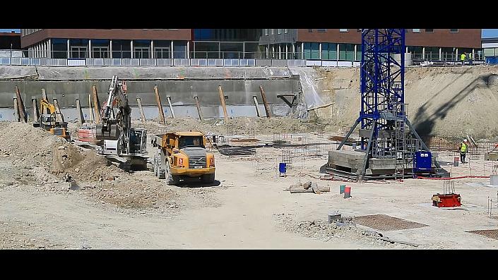 Orléans Métropole - Interrives Suivi de chantier garce a notre solution time lapse pour la construction d'un parking souterrain sur une durée de 12 mois