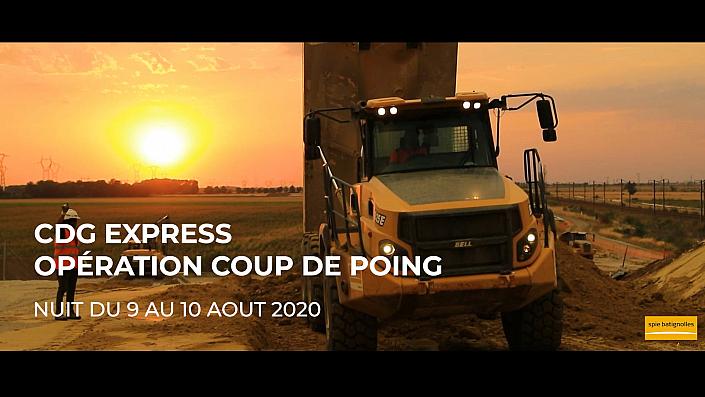 CDG express - Nuit du 9 au 10 aout Opération coup de poing
