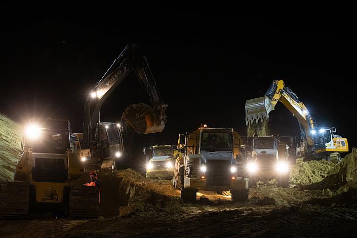Spie Batignolles Valerian -Chantier CDG express - Mitry Mory Opération coup de poing sur le chantier du CDG express zone G et H